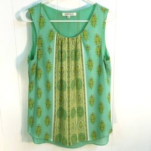 L ROSE & OLIVE Flowy Floral Paisley Sleeveless Top